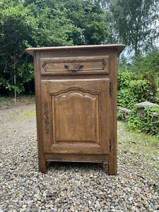 Vintage Solid Oak French Style Cupboard Hall Storage Pot Cupboard Cabinet