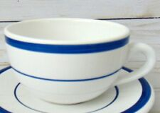 NAUTICA Signature Hot Chocolate Coffee Cups white with blue stripes Portugal