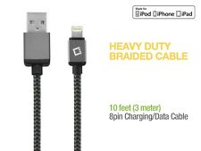 Apple Certified 10 Ft Lightning Braided USB Data Cable Charger for iPad Air 2