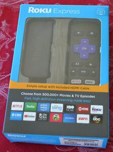 Roku Express (6th Generation) HD Media Streamer 3900RW VUDU Edition - Black