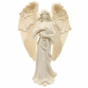 Guardian Angel Statue with Heart - 17cm Tall Memorial Figurine Gift Boxed