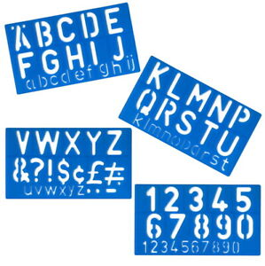 50mm Stencils Letters Numbers Pen Alphabet Special Stencil Full Set Sign Writing