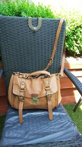 LADIES LARGE TAN LEATHER HAND/SHOULDER/CROSS BAG BY CLARKS