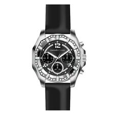 Roccobarocco Donna Orologio Watch Woman Uhr Pelle Nero Crono Strass RB0114 Black