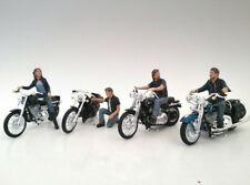Biker Gang Motorradfahrer 4 Modell Figuren 1:18 American Diorama models