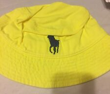 polo ralph lauren bucket hat big Pony Boys  8-20 Electric Yellow / Navy