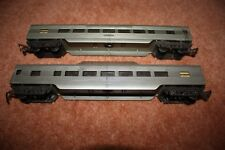 2 Triang Transcontinental R24/25 silver observation & standard coach oo gauge
