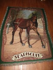 SEABISCUIT THOROUGHBRED RACE HORSE THROW BLANKET NICE ITEM