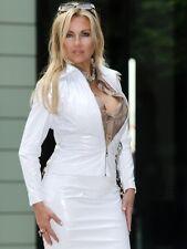 Lackjacke verni veste blouson blanc brillant vinyle Léviathans