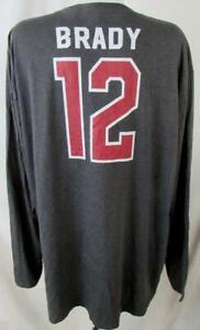 Tampa Bay Buccaneers Big Men 5XL Screened Long Sleeve BRADY #12 T-shirt ATPA 142