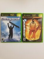 Amped 1 + 2 Freestyle Snowboading - 2 Game Lot - Microsoft Xbox OG Tested