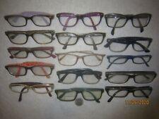 Lot of 15 Ray-Ban Plastic Eyeglasses Vintage Women Men BIG WIDE SEXY Office Nerd