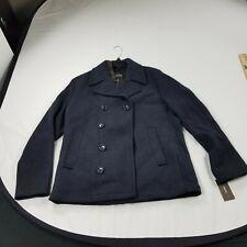 Michael Kors Mens double breast button zip Jacket pea coat gray   $300 Medium m