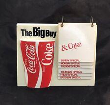Coca Cola The Big Buy Restaurant Display Menu Board Today's Special