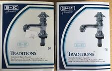 Traditions Standard Base Basin Chrome Faucet (set Of Two)Half Inch Inlet 220–006