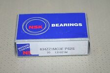 (Lot of 20) NSK 634 ZZ1MC3E PS2S Shielded Deep Groove Bearings * NEW *
