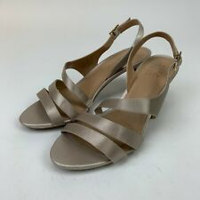 Naturalizer Taimi Dress Sandals Shoes Womens Champagne Silver Heels Size 8.5
