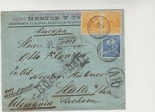 1896 Peru AR-letter (Rückschein) and Registered letter to Germany