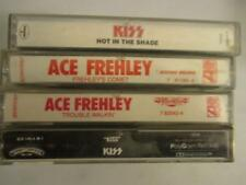 KISS ACE FREHLEY~Cassette Tape Lot of 4~Hot In The Shade-Comet-Trouble Walkin