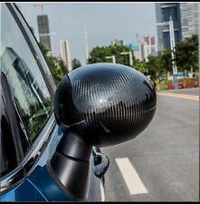 Real Carbon Fiber Rear View Mirror Cover Cap Fit For 2002-2006 Mini Cooper R53