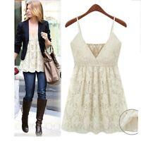 Summer lace T shirt V Neck Blouse Womens Camisole Elegant Ladies Lace Top Size