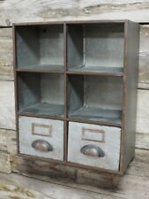 Metal Pigeon Hole Storage Wall Unit Vintage Industrial Style Cabinet