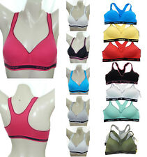 1,3 PK COTTON MOLDED PADDED GYM YOGA WORK OUT RACERBACK SPORTS BRA 30A-36A