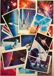 "1978 Postcards 29 pcs Soviet Space Propaganda USSR ""Star Trek"" Leonov Sokolov"