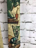"""Mens Necktie Licensed Neck Tie MSU Spartan 100% Silk Gold Sports Theme 59""""x4"""""""