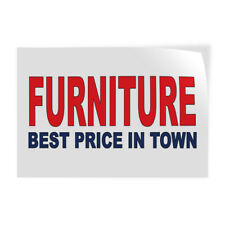 Decal Stickers Furniture Best Price in Town Red Blue Vinyl Store Sign Label