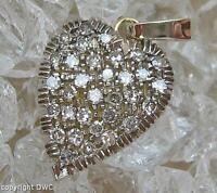 Diamantanhänger mit Diamanten Brillanten diamond aus 18 Kt. 750 Weißgold .
