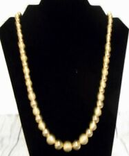 Vintage Korea Gold Tone Beaded Necklace 28