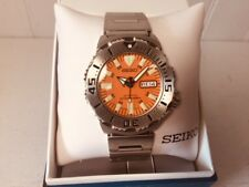 SEIKO SKX781 ORANGE MONSTER 200M Water Resistant AUTOMATIC Day Date Dive Watch