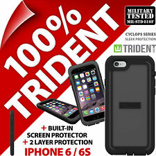 New Trident Cyclops Grey Protective Case Rugged Armour for Apple iPhone 6 / 6S
