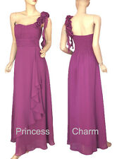 New Size 12 Formal Evening Dress Purple Chiffon