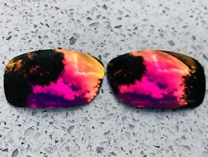 ETCHED POLARIZED + RED MIRROR REPLACEMENT LENSES FOR OAKLEY FIVES SQUARED & 3.0