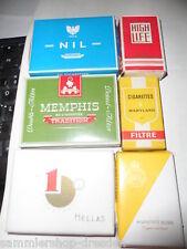 24528 6x Zigarettenschachtel Nil High life Hellas Memphis Muratti kork Maryland