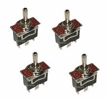 4 SPDT Momentary ON/OFF/Momentary ON 20A Toggle Switches 1/2 Mount (ON)/OFF/(ON)