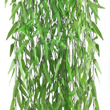 Artificial Vines Greenery Fake Willow Rattan Twig Leaves Swags Wall Tropical Dec