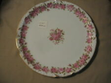 Haviland Limoges Cake plate, heavy pink roses