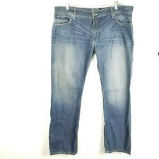 Robins Jeans Marlon Straight Leg Distressed Blue Mens Big Tall Size 44 x 37 Long