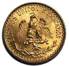 1945 MEXICO 2 PESOS GOLD COIN Mo MEXICO CITY MINT UNC EXCELLENT CONDITION #AA13