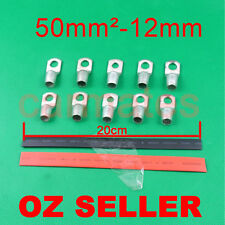 10 Lug Terminals 50-12 plus free heat shrink for Wire Copper Solar Inverter Bank