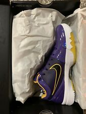 Kobe 4 Protro Undefeated Los Angeles Lakers Size 6 100% Authentic