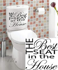 The Best Seat In The House Toilet Wall Art Quote Decal Vinyl Sticker
