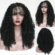 Brazilian Long Black Hair Afro Kinky Curly Lace Front Full Wig Fashion Women New