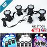 4pcs RGB 36 LED Underwater Spot Light IP68 for Water Aquarium Pond Fish Tank UK