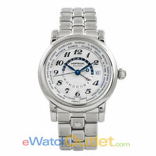 Montblanc Star GMT Automatic Stainless Steel Silver Dial 106465