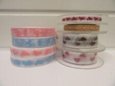 2 metres or full roll 10mm 15mm Baby Ribbon Organza & Grosgrain Feet Toys UK