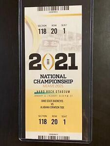 CUSTOM 2021 National Championship Commemorative Ticket Stub - Customize Sect/Row